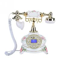 Retro Landline Phone Home Office Fixed Telephone FSK/DTMF With Pause and Redial Function 50 Caller ID Corded Phone