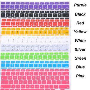 Мягкие прочные наклейки на клавиатуру 9 цветов силиконовый чехол для клавиатуры для Apple Macbook Pro MAC 13 15 Air 13 US model