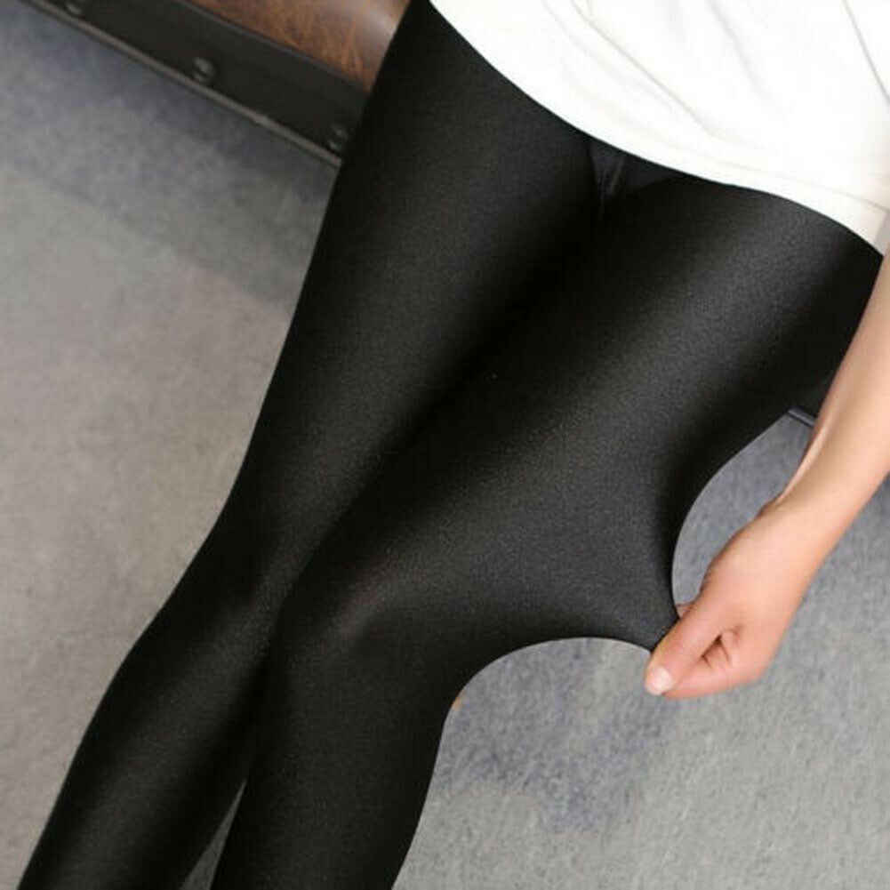 ผู้หญิงสูงเอว Slim ผอม Leggings Jeggings ยืดกางเกงดินสอกางเกง M-XXXL