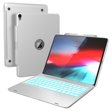 цена на For iPad Pro 12.9 Inch 2018 Case Laptop Design USA 7 Colors Backlight Bluetooth Keyboard Cover For iPad Pro 12.9 2018 Case Stand