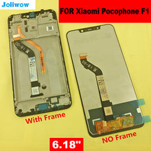 6.18 For  Xiaomi poco F1 LCD Display Touch Screen Digitizer Assembly for xiaomi mi Pocophone with frame