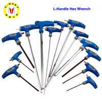 C-Mart Hand Werkzeug 2,5/3/4/5/6/8/10mm Chrom -vanadiu Stahl Innere Hexagon Schlüssel T Griff allen Hex Schlüssel Schlüssel-schlüssel