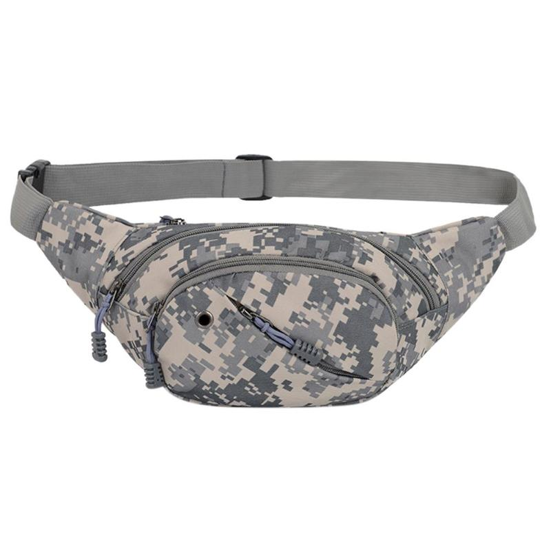 Portable Crossbody Waist Packs Camouflage Sports Men Women Canvas Outdoors Messenger Shoulder Hand Running Bags Bolsas Feminina