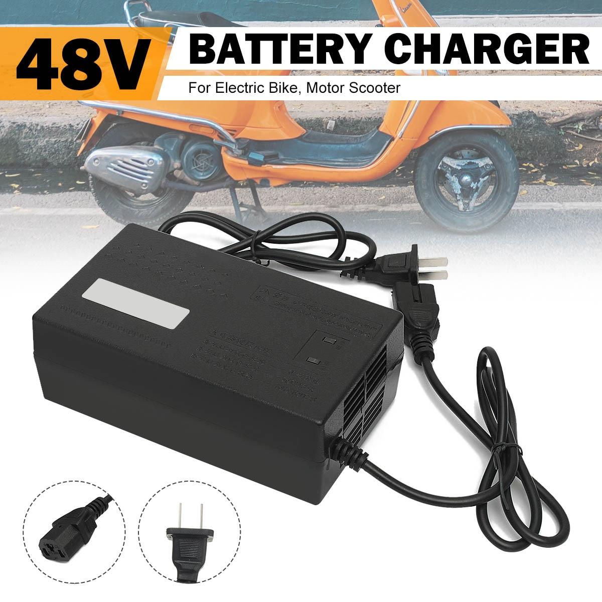 LEORY 48V12-14AH Lead Electric Bicycle Bike Acid Battery Charger For Electrocar Scooters EU Plug 48V 14AH LED Indicator Light