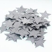 100 шт в форме сердца звезды блестящие конфетти наклейки Свадебные украшения на День святого Валентина домашний сад DIY украшения на вечеринку дня рождения