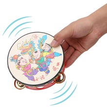 Kid Handbell Rattle Drums Classic Cartoon Baby Toys Educational Musical Instrument(China)