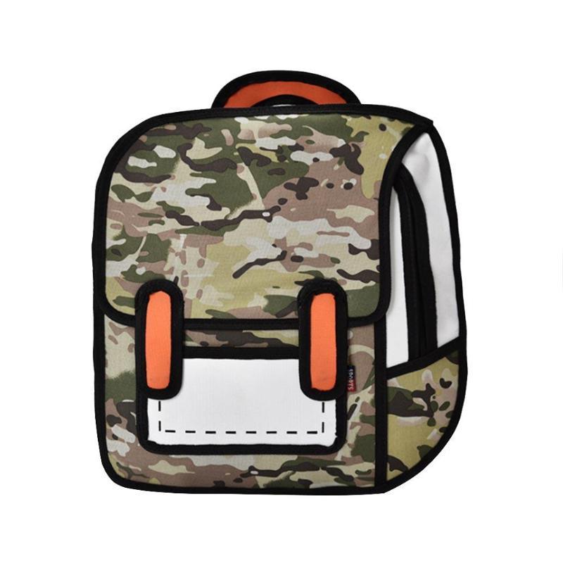3D Cartoon Backpacks Student Bags 2D Drawing Back Bag Backpack Jump Style Comic Unisex Knapsack Mochila