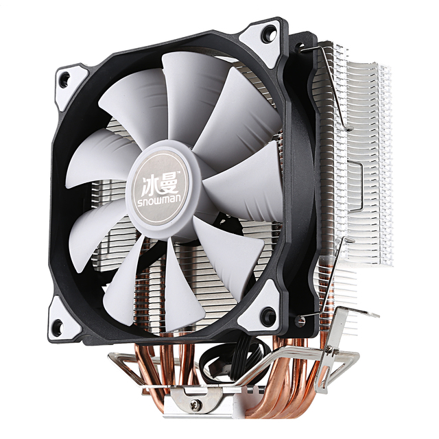 SNOWMAN CPU Cooler Master 4 Pure Copper Heat-pipes freeze Tower Cooling System CPU Cooling Fan with PWM Fans 4