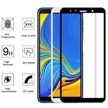 Premium koruyucu cam Samsung J4 J6 artı J7 J8 A7 2018 A750 temperli ekran koruyucu kılıf Galaxy A6 A8 artı A9 2018 film