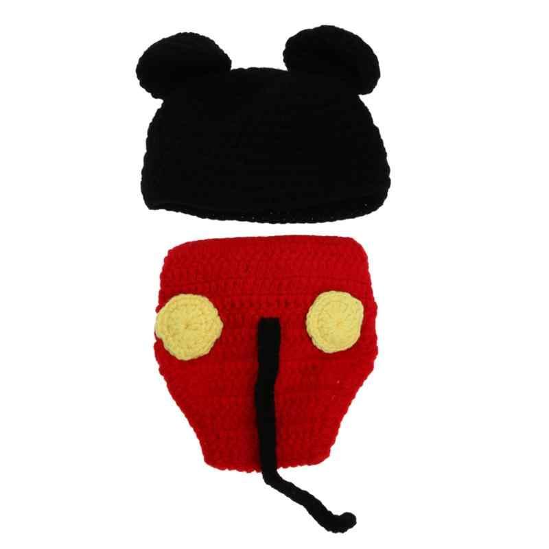 תינוק סרוג אבזרי תמונה תינוק בעבודת יד כותנה תלבושות יילוד צילום 100 ימים תלבושות מכנסיים וכובעים