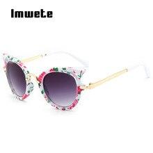 Kids Sunglasses Frame Goggles Girls Boys Brand Designer Imwete UV400 Children for Cat-Eye
