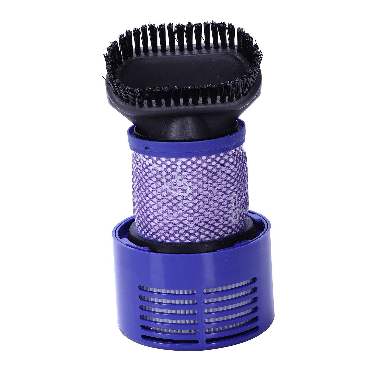 Nova unidade de filtro lavável quente + ferramenta escova sujeira para dyson v10 sv12 cyclone animal total absoluto limpo aspirador pó