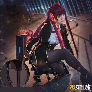 Image 2 - New Girls Frontline cosplay costume Walter WA2000 cos fashion wig tie glove uniform clothing for girl women anime set