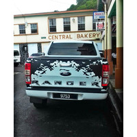 free shipping 1 PC R Series mud tail door graphic vinyl car sticker for ford ranger or wildtrack2012 2013 2014 2015 2016 2017