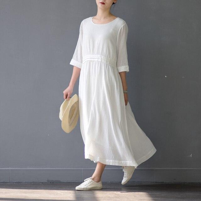 lange katoenen jurken
