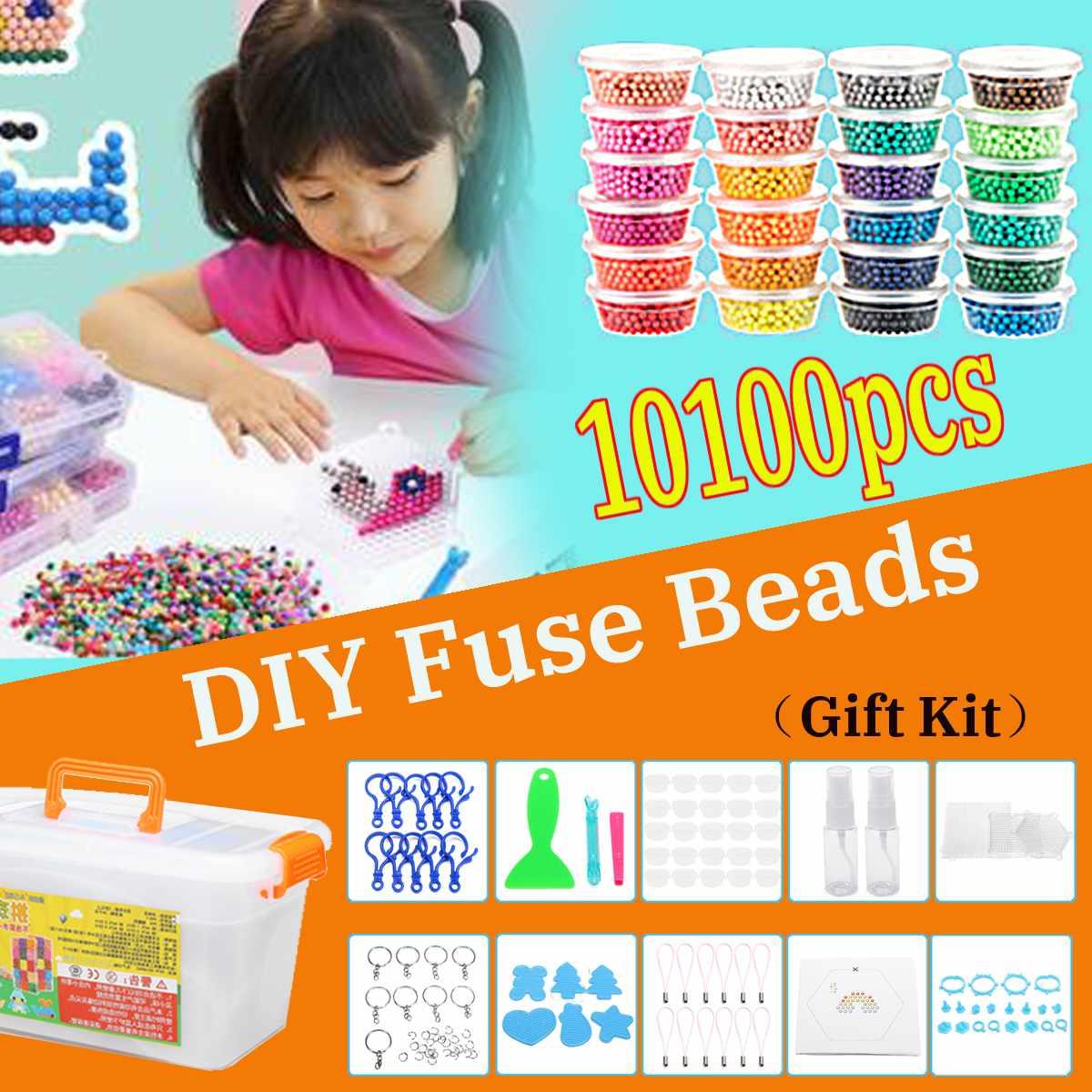 Nouveau 10100 pièces 3D Puzzle jouets brouillard d'eau perle magique bricolage artisanat pour animaux moules bricolage fabrication de la main Puzzles jouets sort reconstituer les haricots