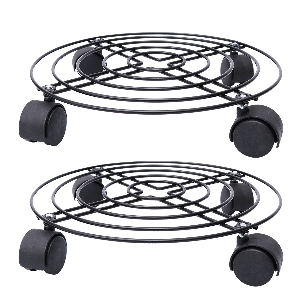 1Pc Flower Plant Pot Round Wheels casters Mover Trolley Garden Tools Caddy Stand
