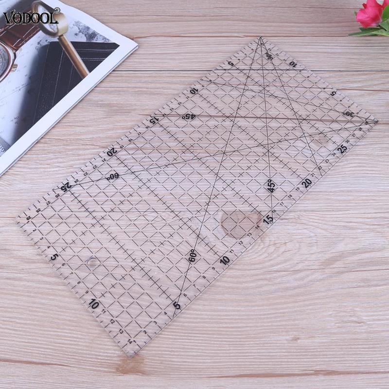 30*15cm Quilting Tools Thick Cloth Patchwork Sewing Accessories DIY Ruler Clear Sewing Patchwork Foot Aligned Ruler