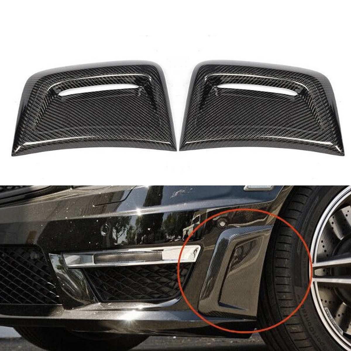 1 пара автомобиля углеродного волокна сбоку вставка Air Vent крышка Накладка сбоку наклейка для вентиляционного отверстия для Benz W204 C63 Для AMG