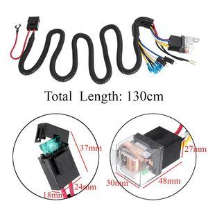 Image 2 - Kit de arnés de cableado para parrilla de coche, Kit de arnés de cableado de bocina eléctrica de 12/24V 40A, claxon de tono Blast