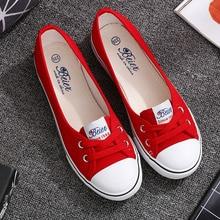 Flats-Shoes Platform Shallow Slip-On Women Canvas Casual Summer Woman Mouth VOGELLIA