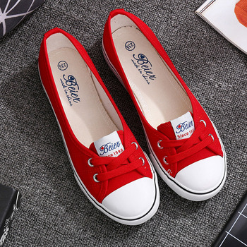 VOGELLIA Casual Flats Shoes Woman Shallow Mouth Flats Platform White Shoes Slip On Summer Women Canvas zapatos de mujer e lov vintage design postage stamp and emblem printed canvas shoes high end customzied women casual flats zapatos mujer