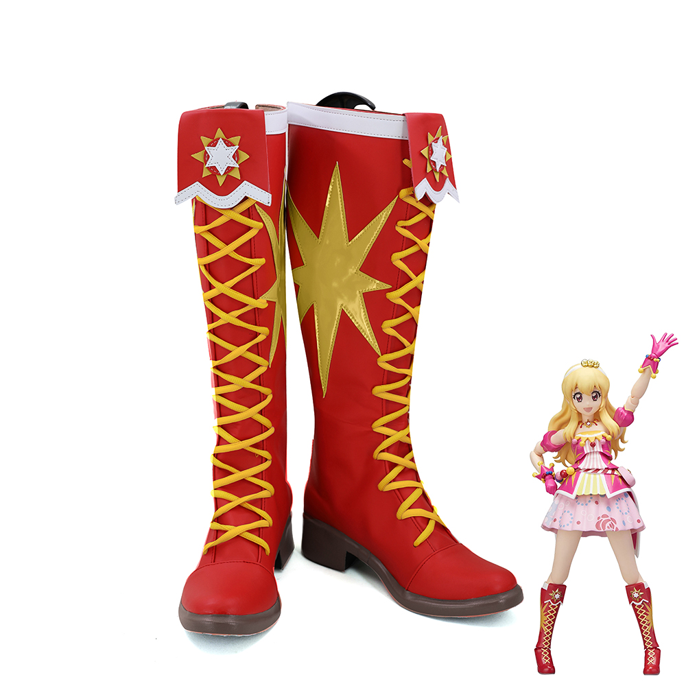 Aikatsu!Idol Activity Hoshimiya Ichigo Uniform Cosplay Shoes Women Boots