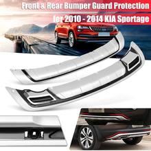 Auto Anteriore e Protezione Paraurti Posteriore di Protezione di Bordo per KIA Sportage R 2010-2014 Car Styling Accessori Esterni