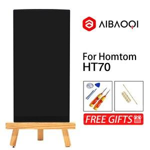 Image 2 - AiBaoQi חדש מקורי 6.0 אינץ מגע מסך + 1440x720 LCD תצוגת החלפת עצרת Homtom HT70 אנדרואיד 7.0 טלפון
