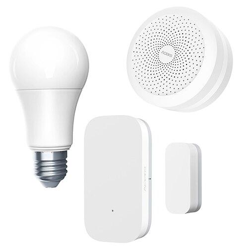 Aqara Smart Light Set passerelle + ampoule + capteurs porte et fenêtre ZigBee connexion sans fil Xiao mi smart home pour mi jia/mi app