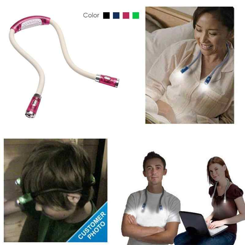 ABS LED mains libres Flexible câlin cou lecture livre lampe lampe torche lampe de travail Rechargeable