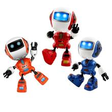 Kids Head Touch Sensor Smart Robot Toy LED Light Sound Alloy Electronic Action F