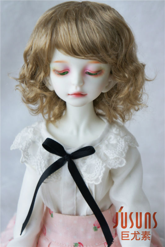 1//3 Pretty Synthetic Mohair BJD Wigs 8-9inch Soft Doll Hair Brown /& Blond