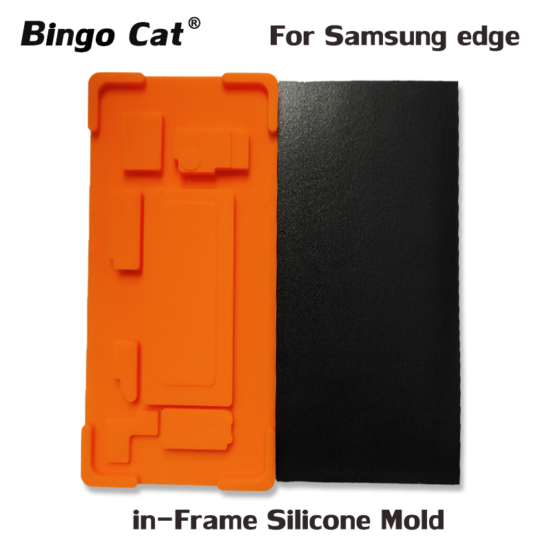 1Set In frame laminating mold For <font><b>Samsung</b></font> Galaxy <font><b>S9</b></font> S8 Plus Note 8 9 S7 Edge LCD Display Lamination inframe fit YMJ Laminator image
