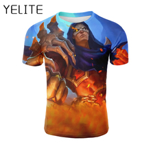 YELITE Mobile Legends T-shirt New Harajuku Clothing Mens T Shirt Cool Game Mobile Printed Tshirt All Over Printed Summer Tops all over printed open shoulder dress