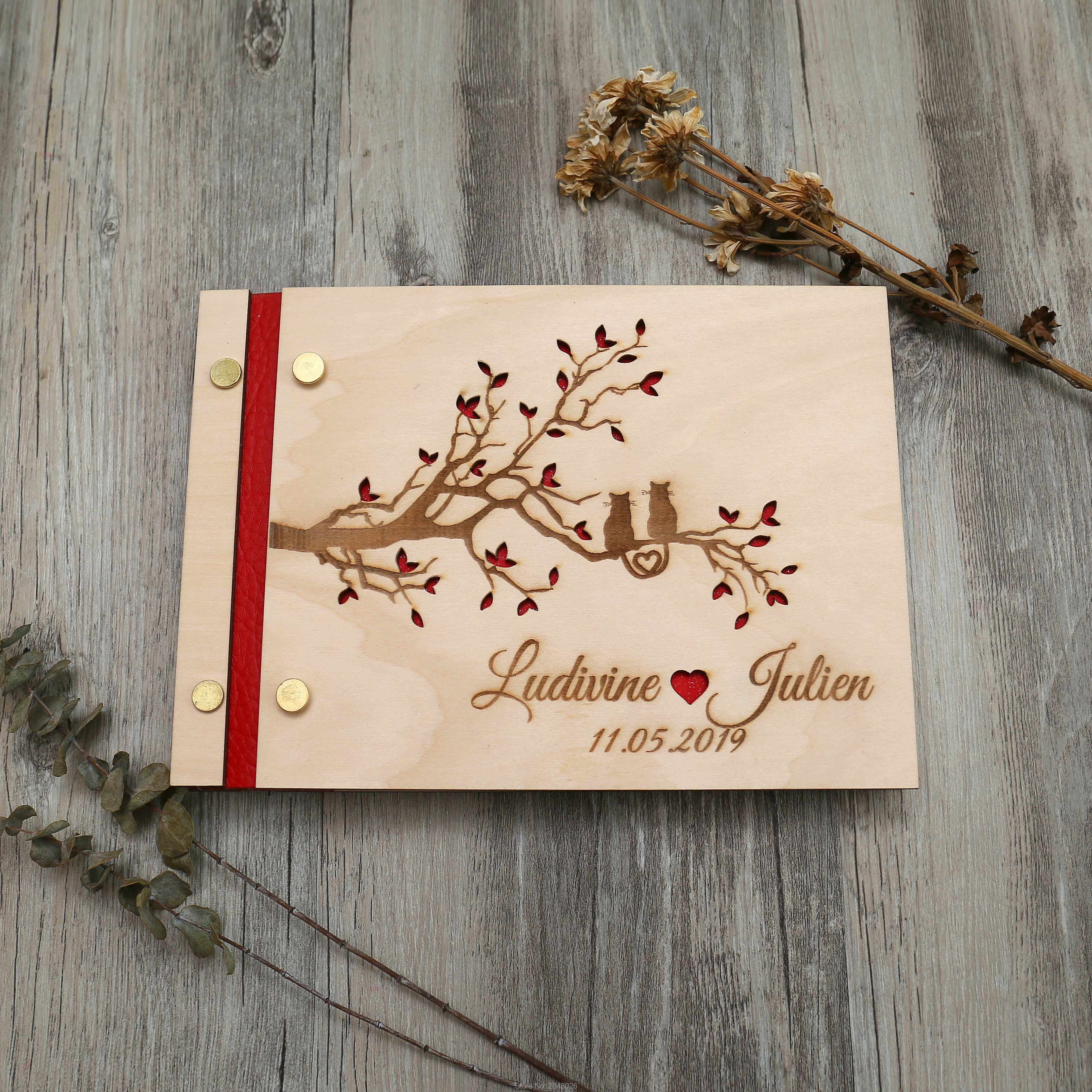 77058ac34312c Detail Feedback Questions about Wedding Guest Book Wood, Butterfly ...