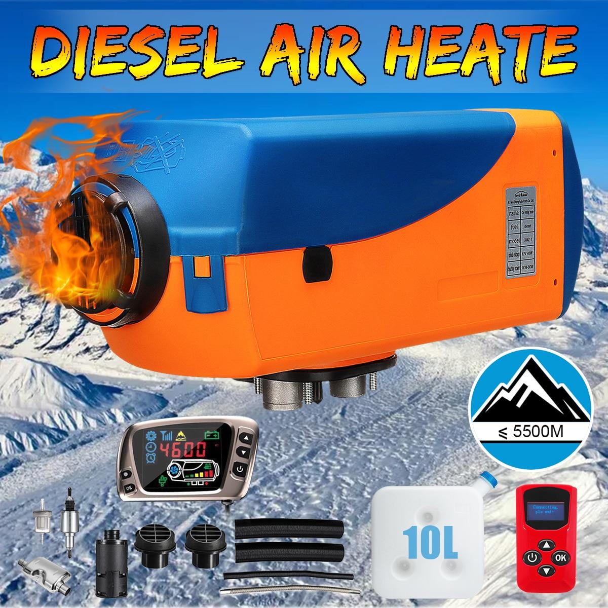12 В 8KW парковка Air Diesels подогреватель топлива ЖК дисплей переключатель 8000 Вт автомобиля нагреватель для Контроллер заряда батареи Motorhome груз...