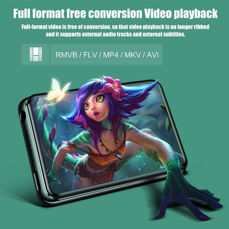 X6 MP3 étudiant MP4 écran tactile lecteur HiFi Super-mince e-book apprentissage anglais écoute Completa MP3