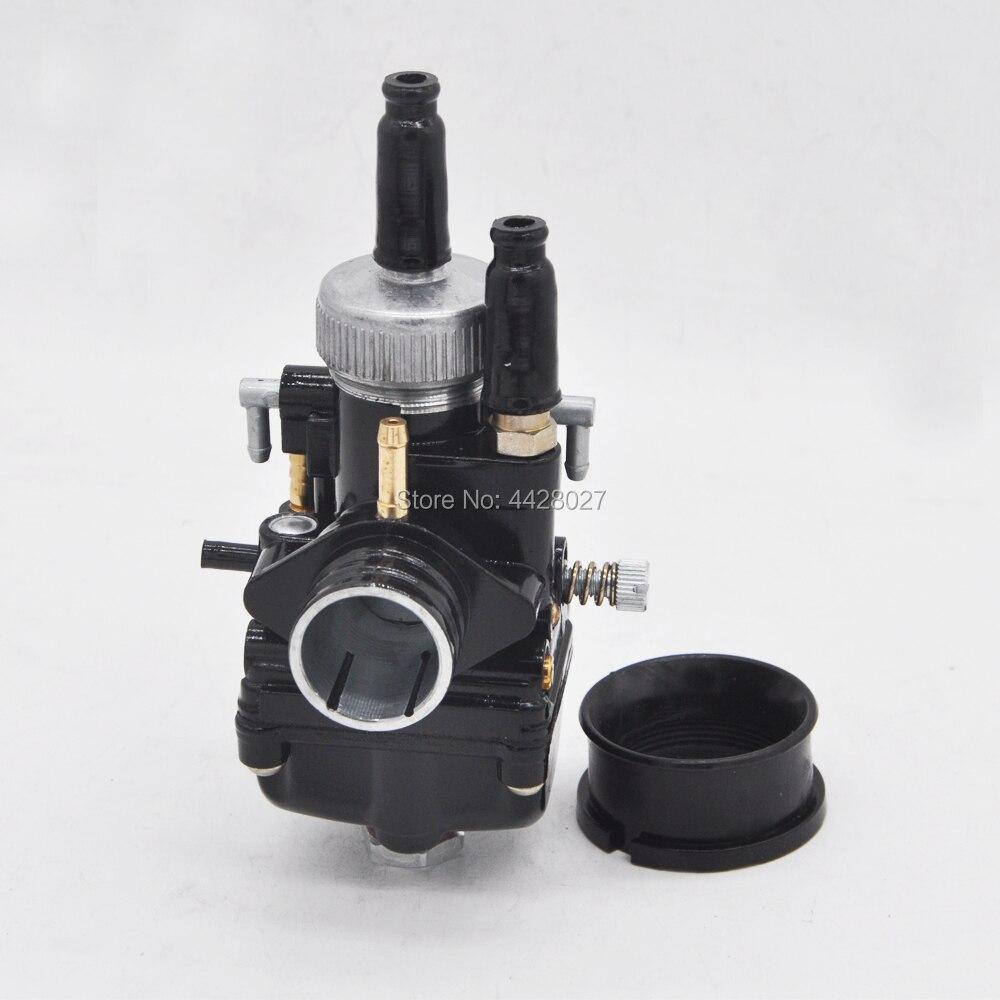 17mm 19mm 21mm Racing Carburetor Black Carb With Air Intake For Dellorto PHBG DIO JOG 50cc 90cc BWS100 For Puch Yamaha Zuma