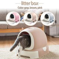 Кошачий ящик для мусора бассейна ящик стиль Туалет для домашних животных полностью закрытый гигиены дезодорант Extra Large горшок кошка поставк