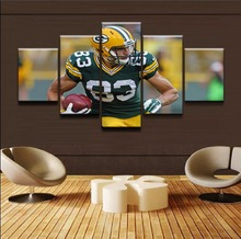 Modular Pictures Wall Art Canvas HD Prints Posters 5 Pieces Rugby Sport Player Paintings Living Room Home Decor Framework