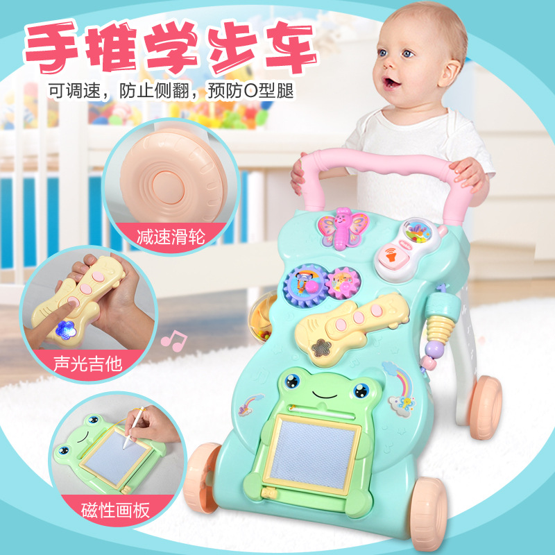 Baby Walker Cart 0-2 Years Child Baby Multifunction with Music Adjustable Walker Toy