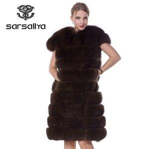 Image 4 - Real Fox Fur Vest Long Women Fur Vest Winter Female Sleeveless Natural Fur Fashion Ladies Clothes Furry Plus Size 7XL 6XL 5XL