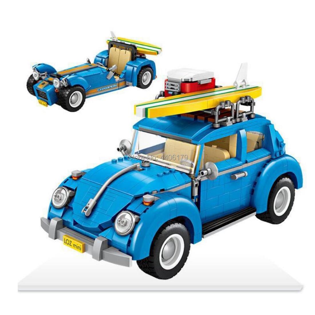 Hot LegoINGlys technic créateur ville 2in1 VW Beetle véhicules Caterham MOC mini blocs de construction modèle brique jouets pour enfants cadeau