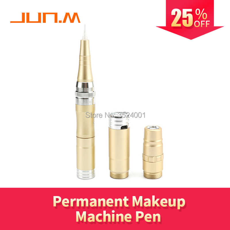New JS Colour Golden Professional Micro Needles Machine With Portable Battery Charging plug-in Permanent Makeup machine PenNew JS Colour Golden Professional Micro Needles Machine With Portable Battery Charging plug-in Permanent Makeup machine Pen