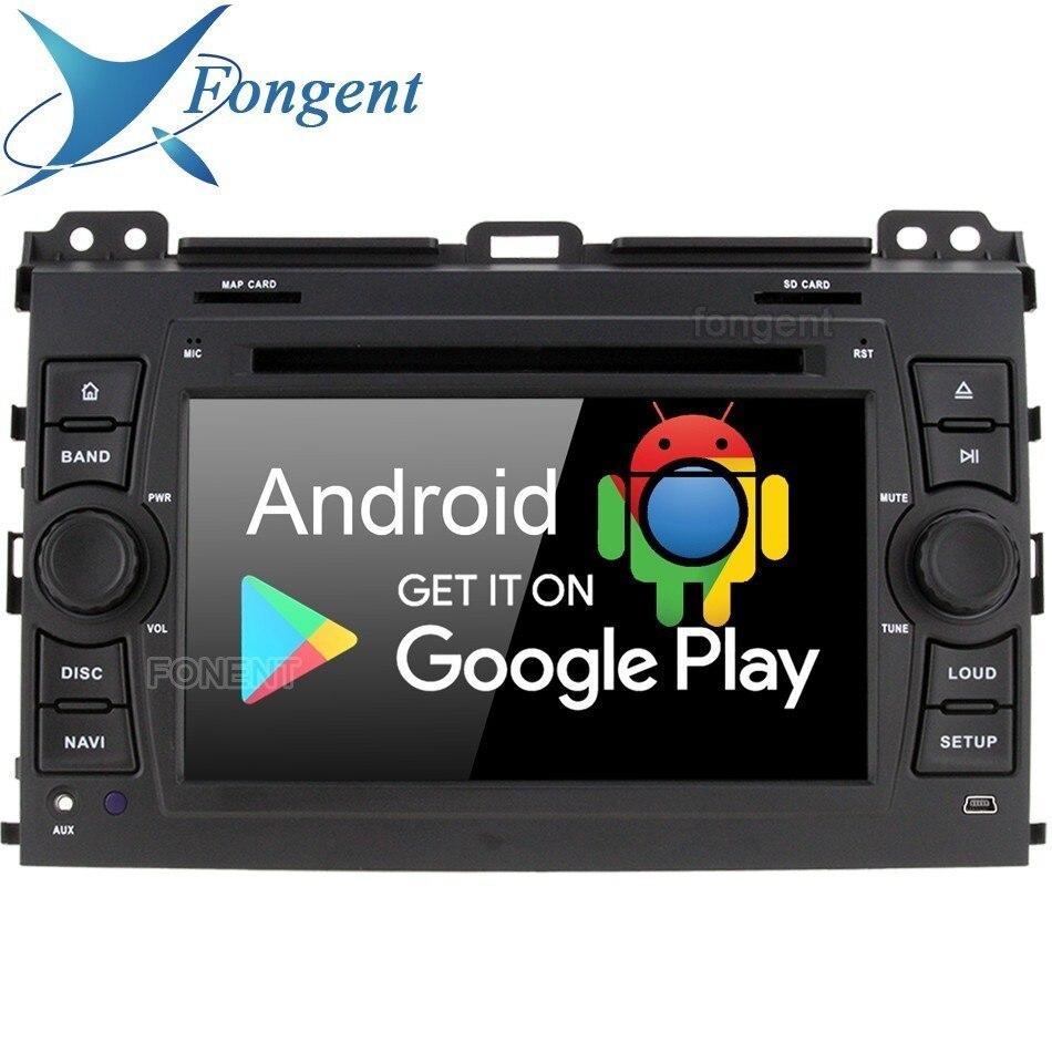 Android 9,0 Octa Core 4 Гб 64 ГБ Автомобильный DVD мультимедийный плеер gps ГЛОНАСС карта радио Wifi для Toyota Prado Land Cruiser 120 2003 2010