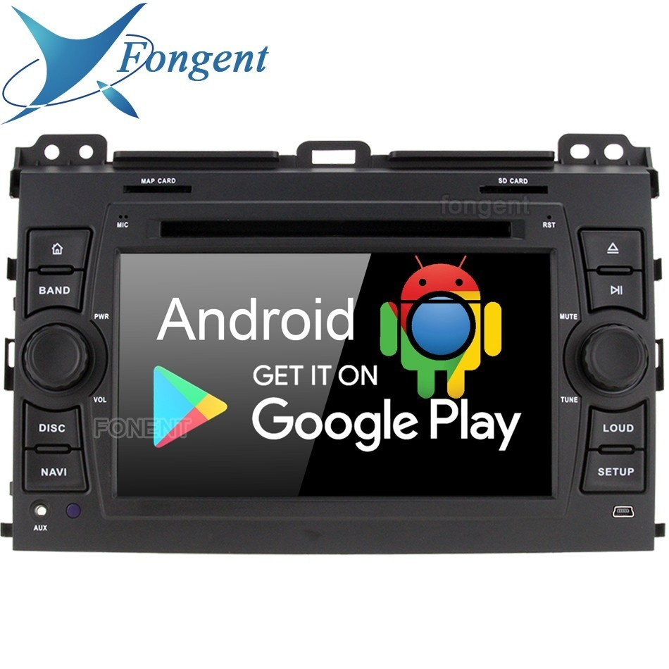 Android 9.0 Octa Núcleo 4 GB 64 GB Carro DVD player multimídia GPS Glonass mapa Wi-fi de Rádio para Toyota Prado land Cruiser 120 2003-2010