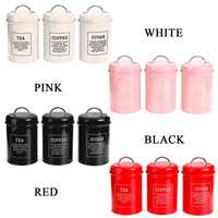 Storage Tank Cover Steel Kitchen Utensils Multifunction Sugar Tea Coffee Box Case Household Food Canister Snack Tank