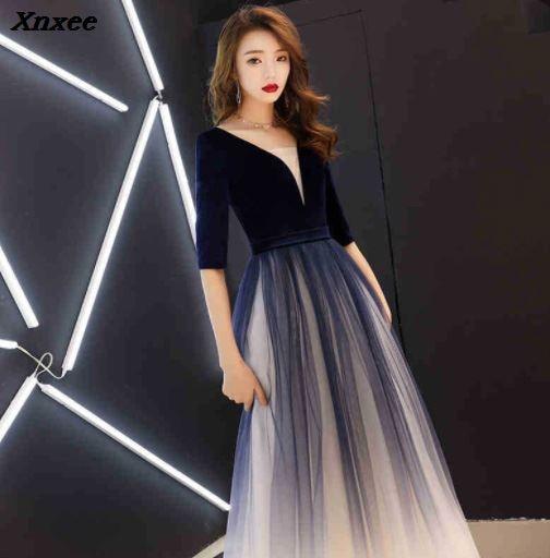 Xnxee 2019 جديد نمط اللباس المألوف ، رقيقة مساء مأدبة اللباس ، هزلية طويلة مضيفة ، فساتين ، السيدات Xnxee-في فساتين من ملابس نسائية على  مجموعة 1