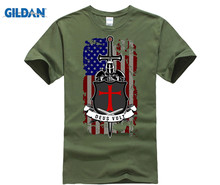 GILDAN DEUS VULT GOD WILLS IT Mens T-shirt Brand Print Summer Casual High Quality Trendy